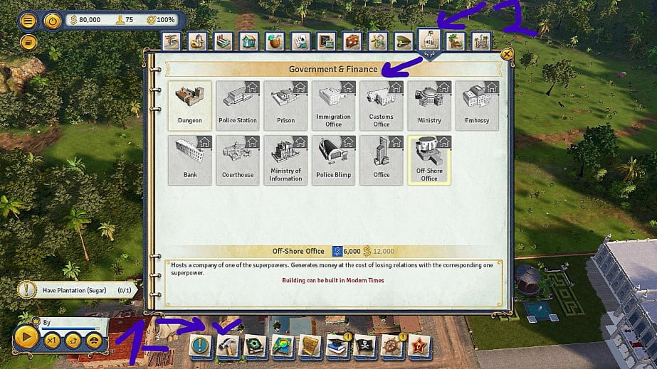 Tropico 6 DLC The Llama of Wall Street - Tips of Government and Finance - Achievement
